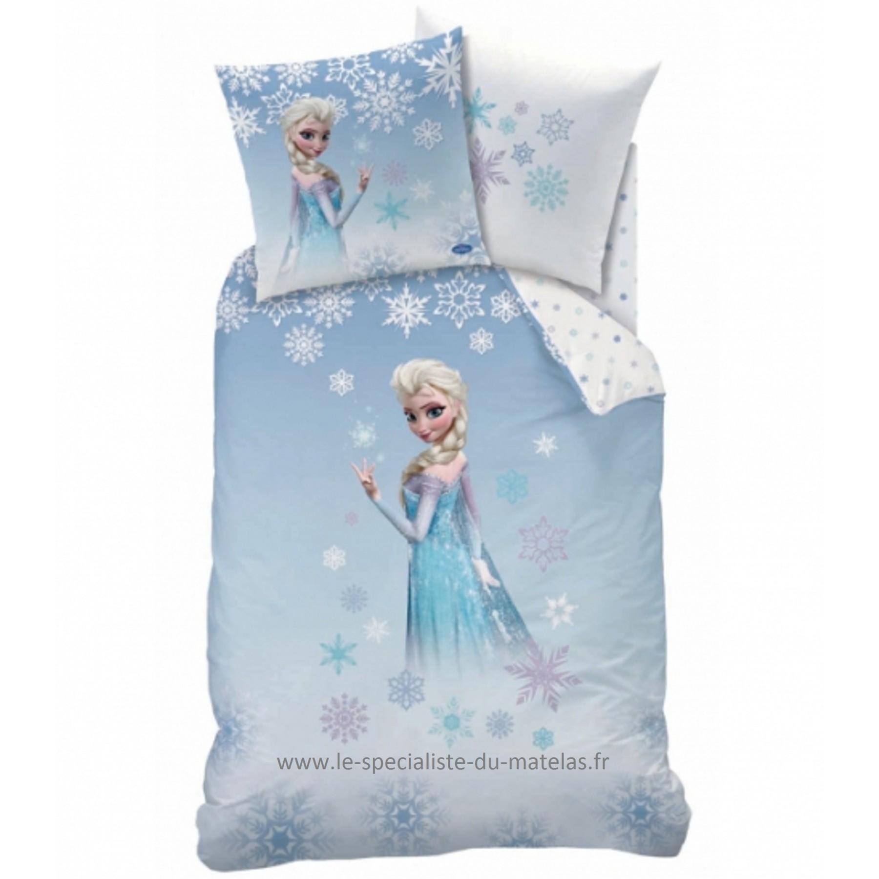 housse de couette reine des neiges le sp cialiste du matelas. Black Bedroom Furniture Sets. Home Design Ideas