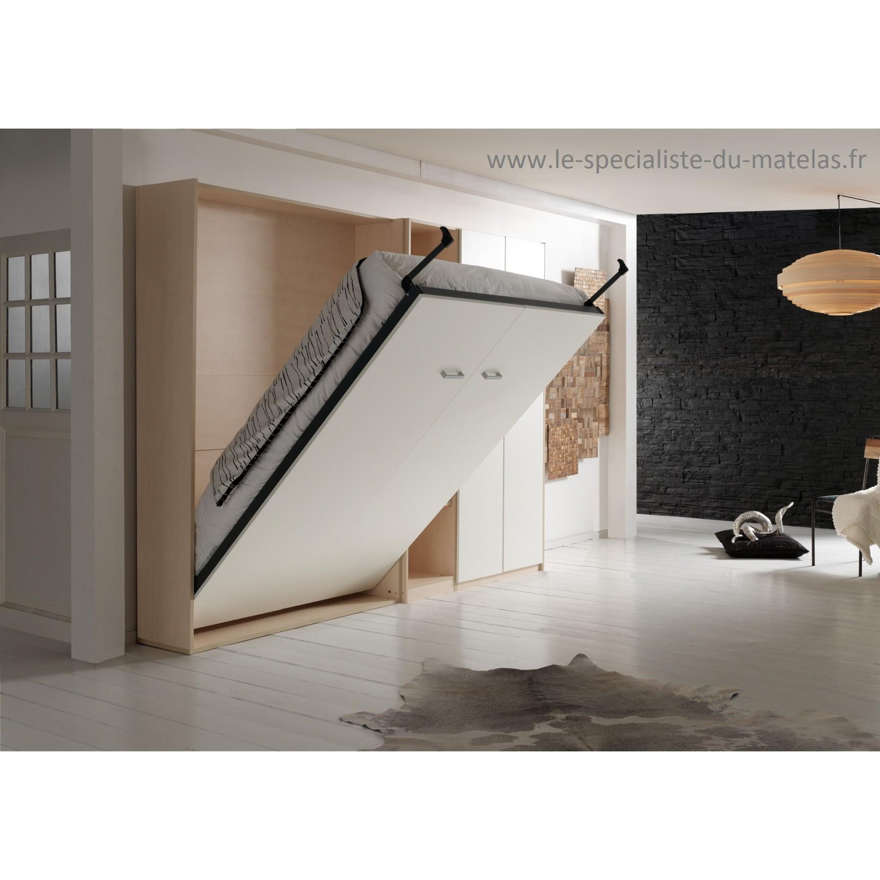 fabriquer un lit escamotable best le lit qui se range au. Black Bedroom Furniture Sets. Home Design Ideas