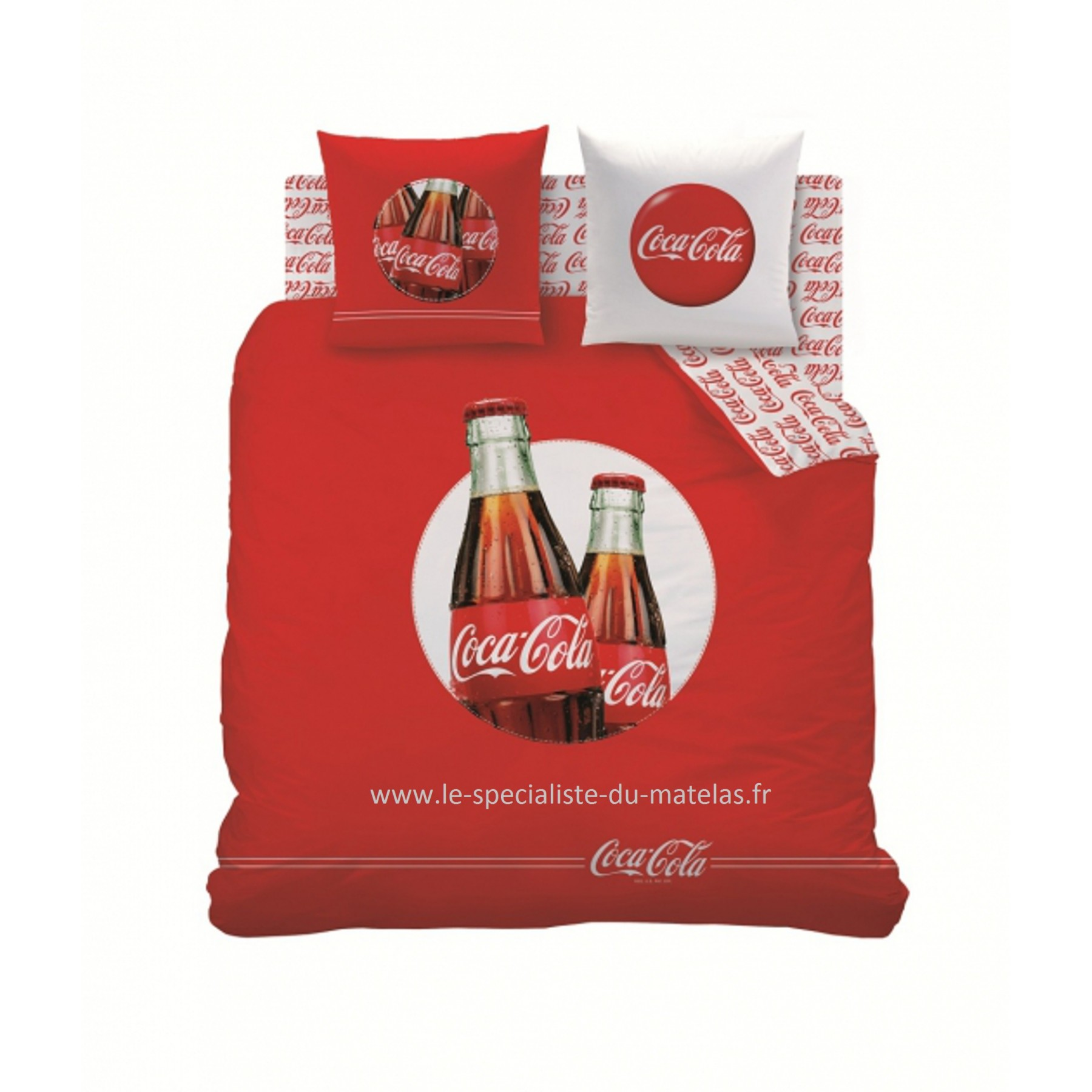 housse de couette coca cola mod le cool d couvrir au le sp cialiste du matelas. Black Bedroom Furniture Sets. Home Design Ideas